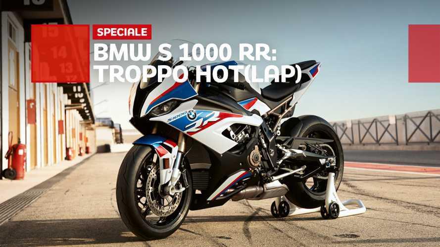 BMW S1000RR 2020, l'hotlap (doppio) a Vallelunga