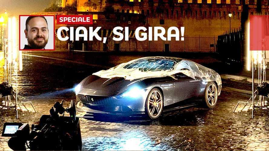 Ferrari Roma, i segreti dello spot kolossal girato nella Capitale