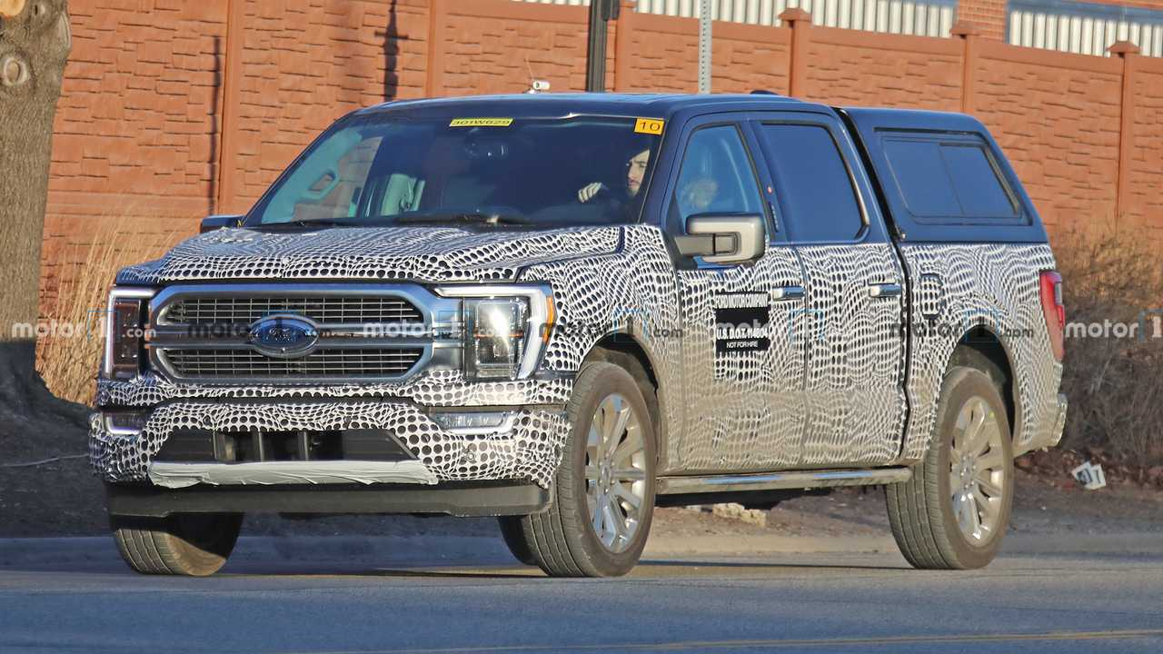 2021 Ford F-150 Hybrid Spied With Updated Front-End Design - Motor1