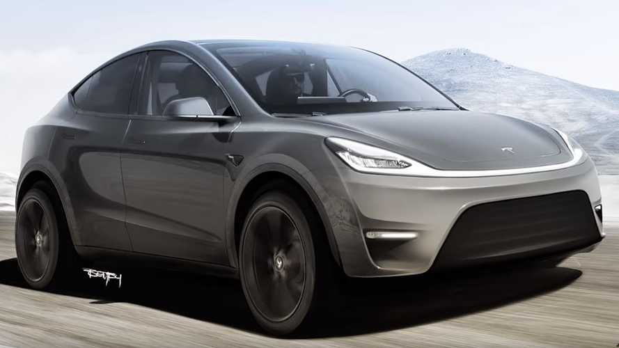 Tesla Model Y Rendered As High Rider With Cybertruck Light Bar