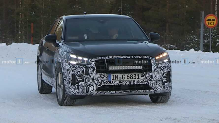 2021 Audi Q2 Facelift Prototypes Caught Revealing New Headlights