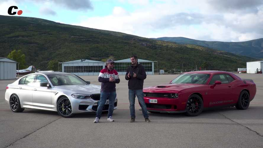 BMW M5 Competition Drag Races Dodge Challenger Hellcat In V8 Battle