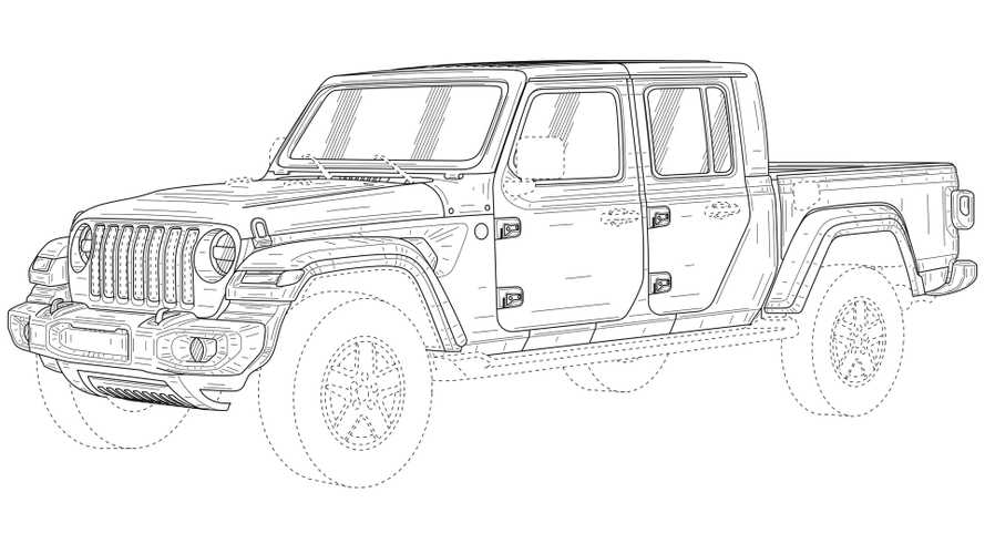 Патентные изображения Jeep Gladiator для России