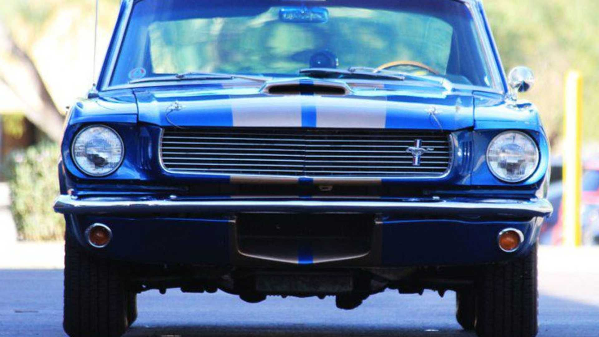 """[""""Demand Attention In This Rare Sapphire 1966 Shelby GT350-H""""]"""