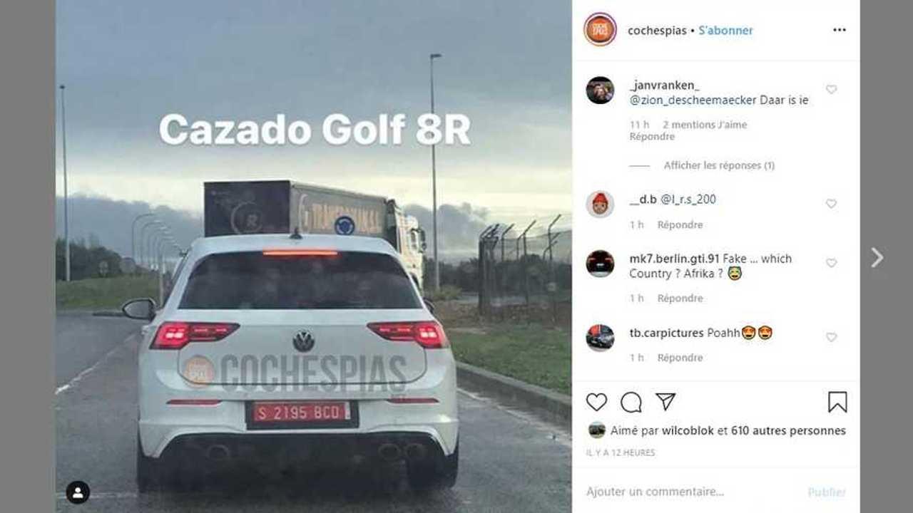 La Volkswagen Golf 8 R se promène sans ses camouflages