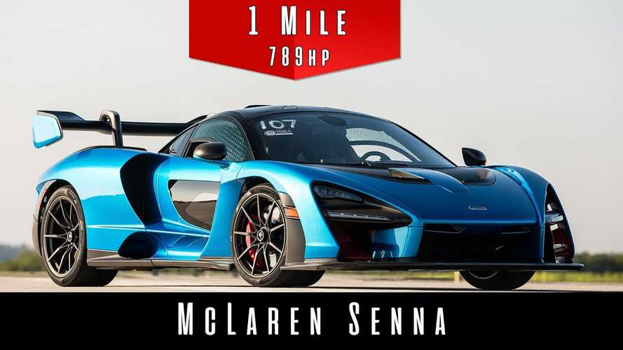 McLaren Senna sounds like a jet Ii 187-mph standing-mile sprint