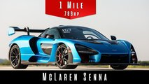 McLaren Senna one-mile sprint