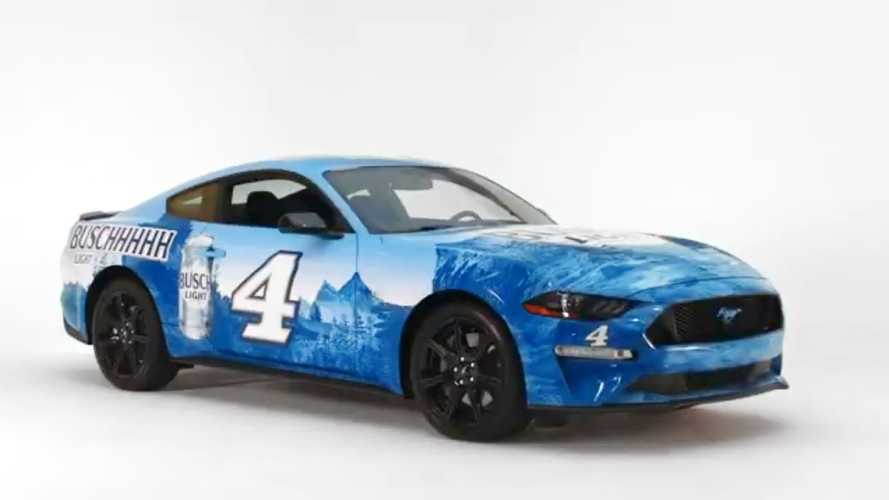 Busch Beer Giving Away Wrapped Ford Mustangs During Daytona 500