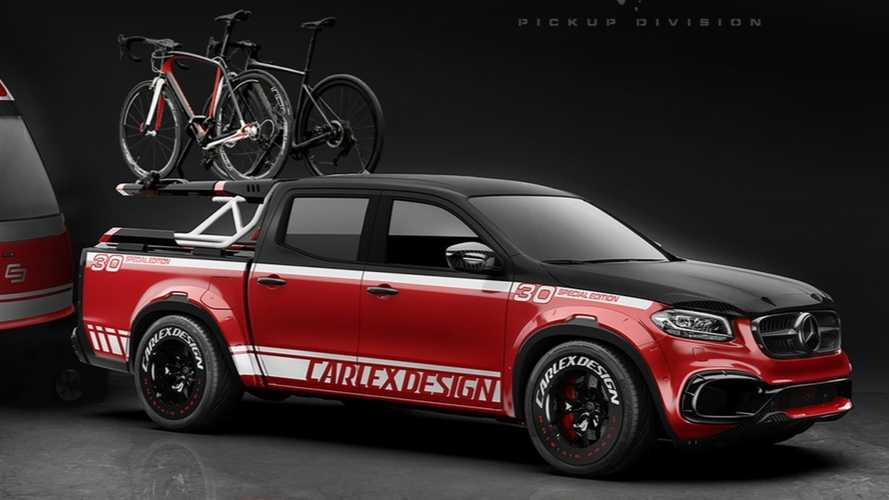 Mercedes X-Class With Matching Trailer Is What Every Cyclist Dreams About