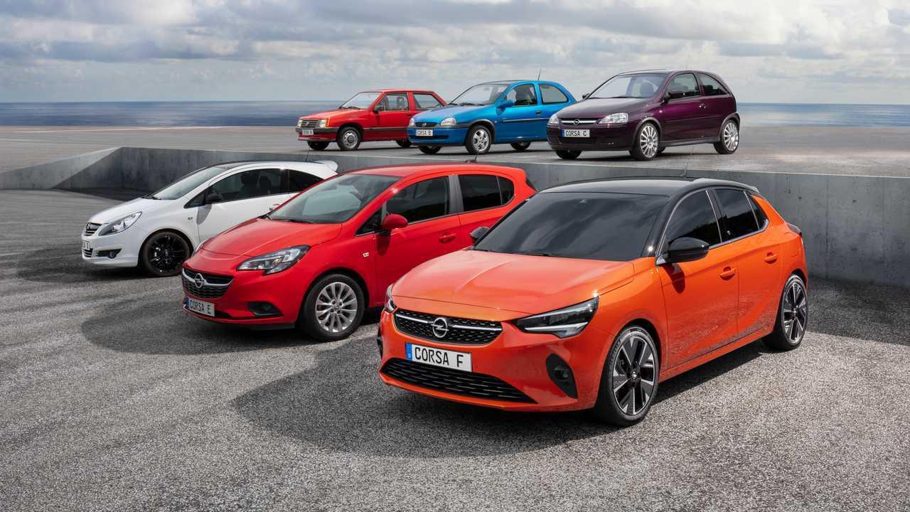 Opel Corsa en sus seis generaciones