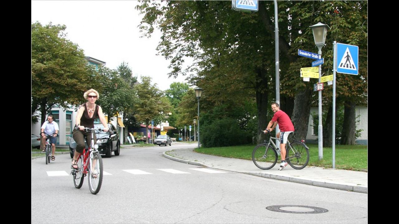 Platz 10: Fahrradfahrer auf der Straße (4 Prozent)