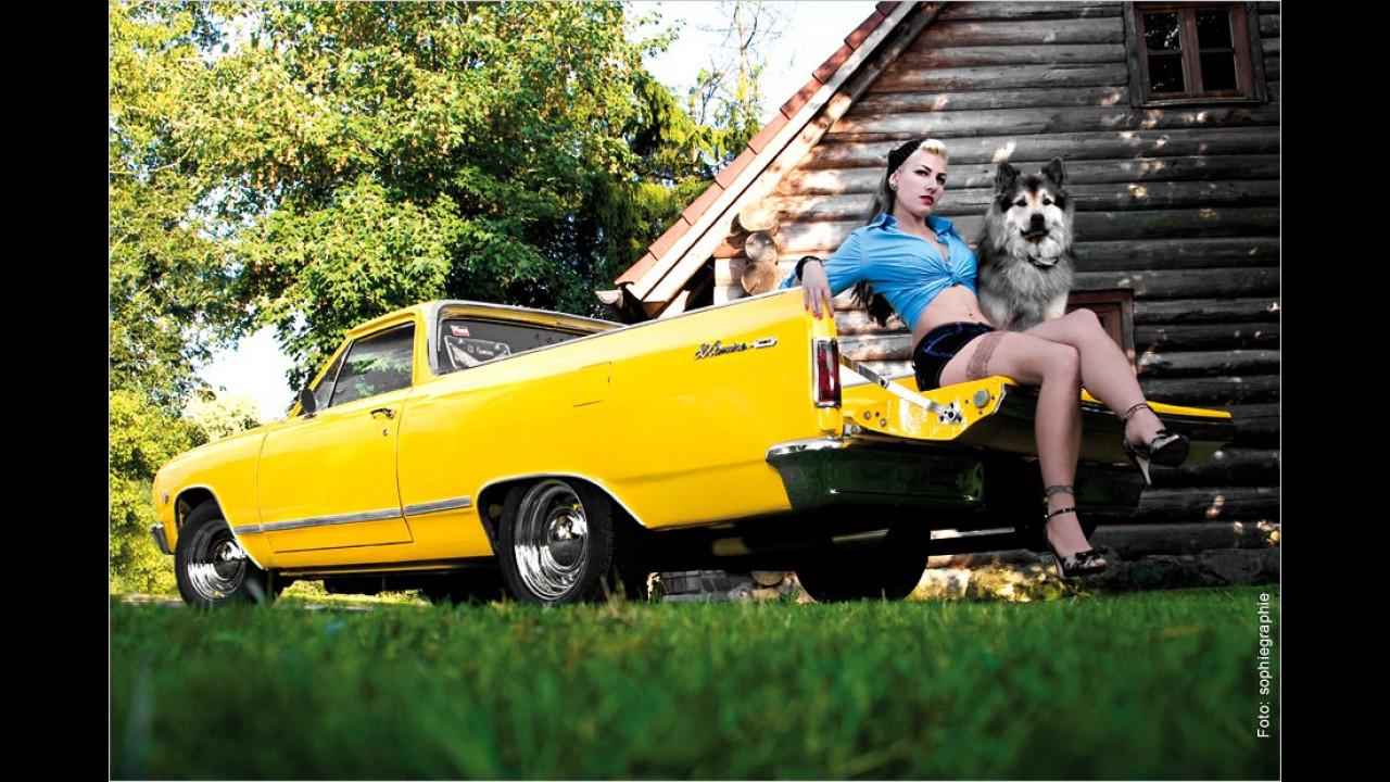 Chevrolet El Camino, Jeanny und Hund Floyd