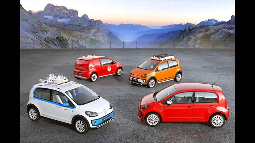 VW zeigt Wintersport-Up, Expeditions-Up und Lieferwagen-Up