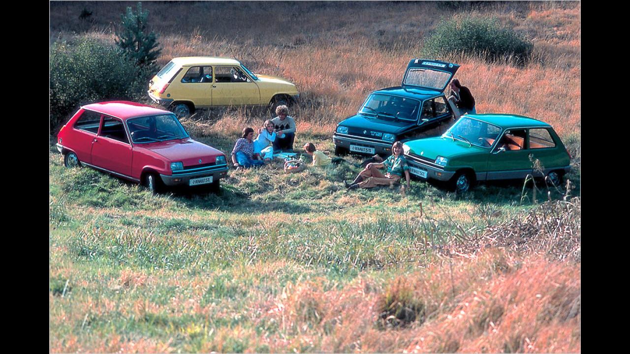 Renault 5: über 5 Millionen (1972 bis 1996)