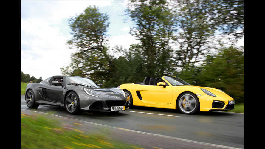 Porsche Boxster GTS vs. Lotus Exige S Roadster