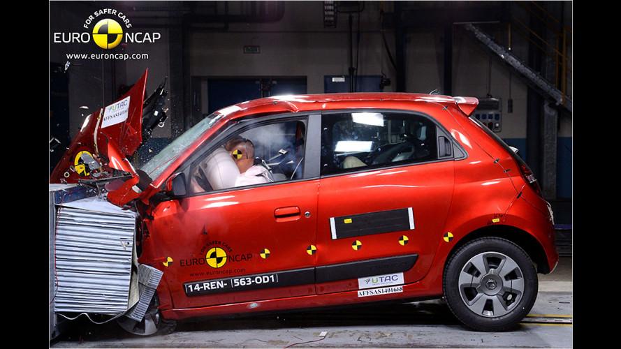 EuroNCAP-Crashtest (2014): Mercedes GLA, Renault Twingo, Toyota Aygo etc.