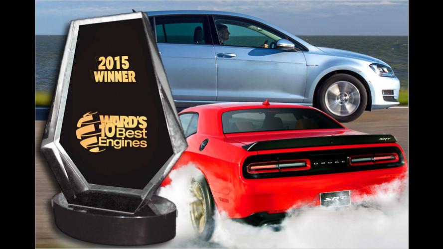 Die Gewinner der ,Ward`s 10 Best Engines 2015