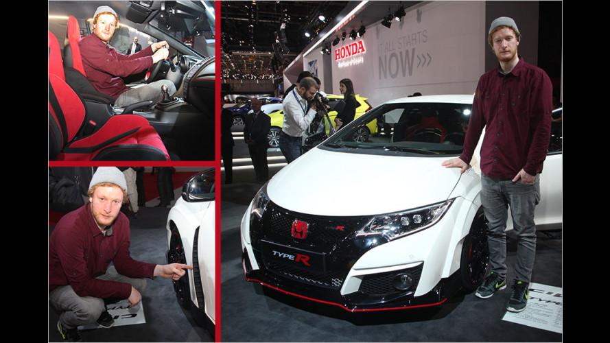 Kompakte-R Spitzensportle-R: Probe sitzen im neuen Honda Civic Type R