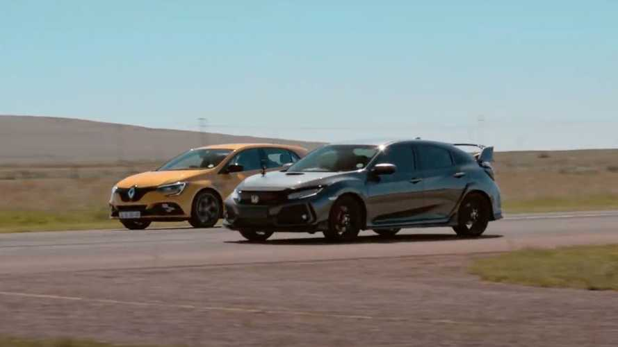 Honda Civic Type R vs Renault Megane RS 300 Trophy drag race