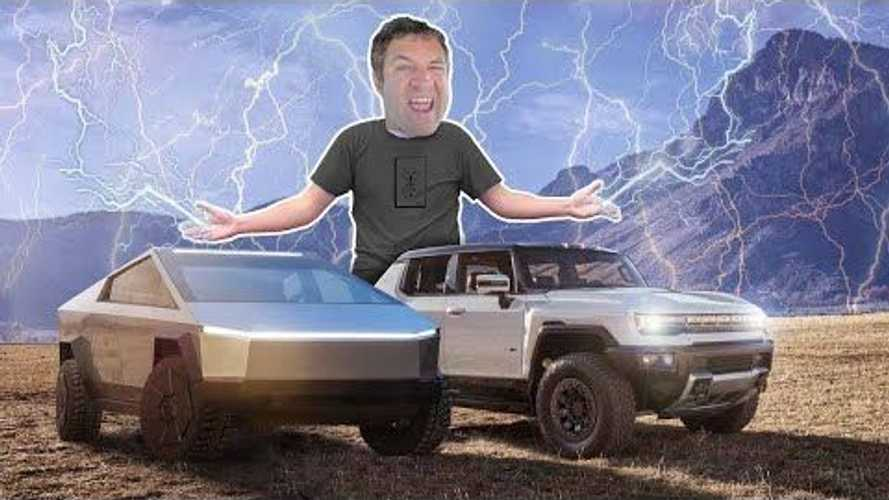 DeMuro Defends His Hummer EV Review, Compares Tesla Cybertuck & Rivian