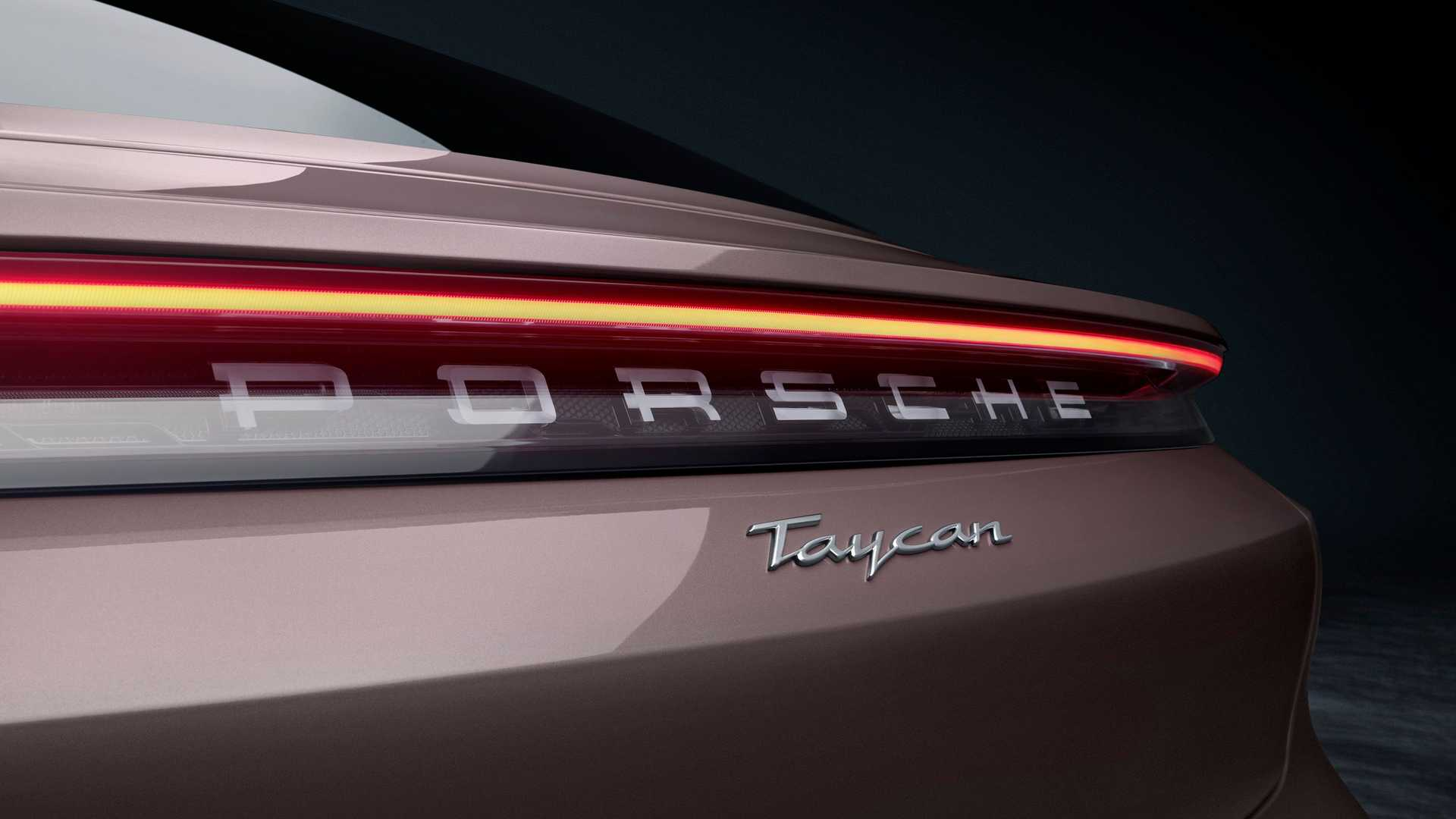 2021 Porsche Taycan Rear Badge