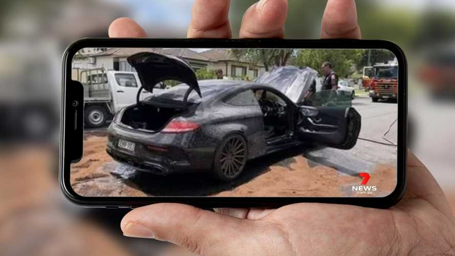 Mercedes-AMG C63 Coupe Catches Fire After Failed Burnout Attempts