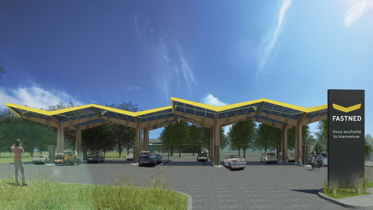 Fastned fast charging station - visualisation