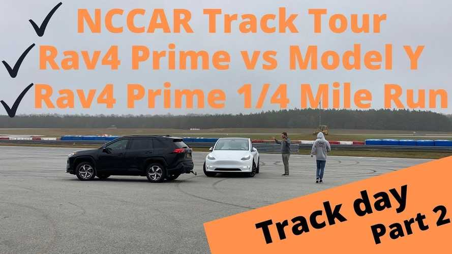 Toyota RAV4 Prime & Tesla Model Y: Track Day Tour, Comparison, Runs