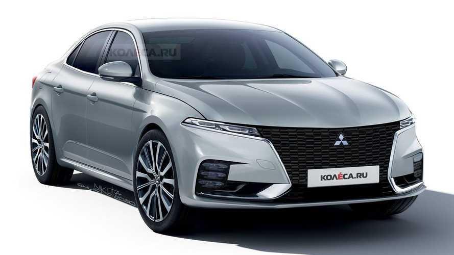 Mitsubishi Galant Rendering Imagines Sleek Sedan Revival
