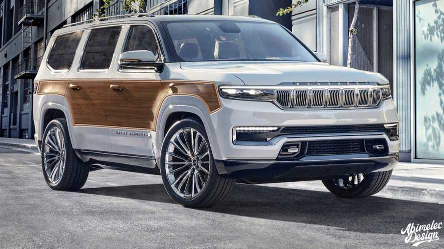New Jeep Wagoneer Gets Wood Paneling Somewhere Along Its Design Study