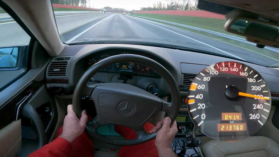 See 23-Year-Old Mercedes CL 500 Go Flat Out On The Autobahn