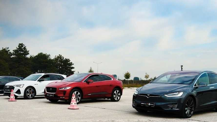 Tesla Model X Faces Audi E-Tron And Jaguar I-Pace In Drag Race