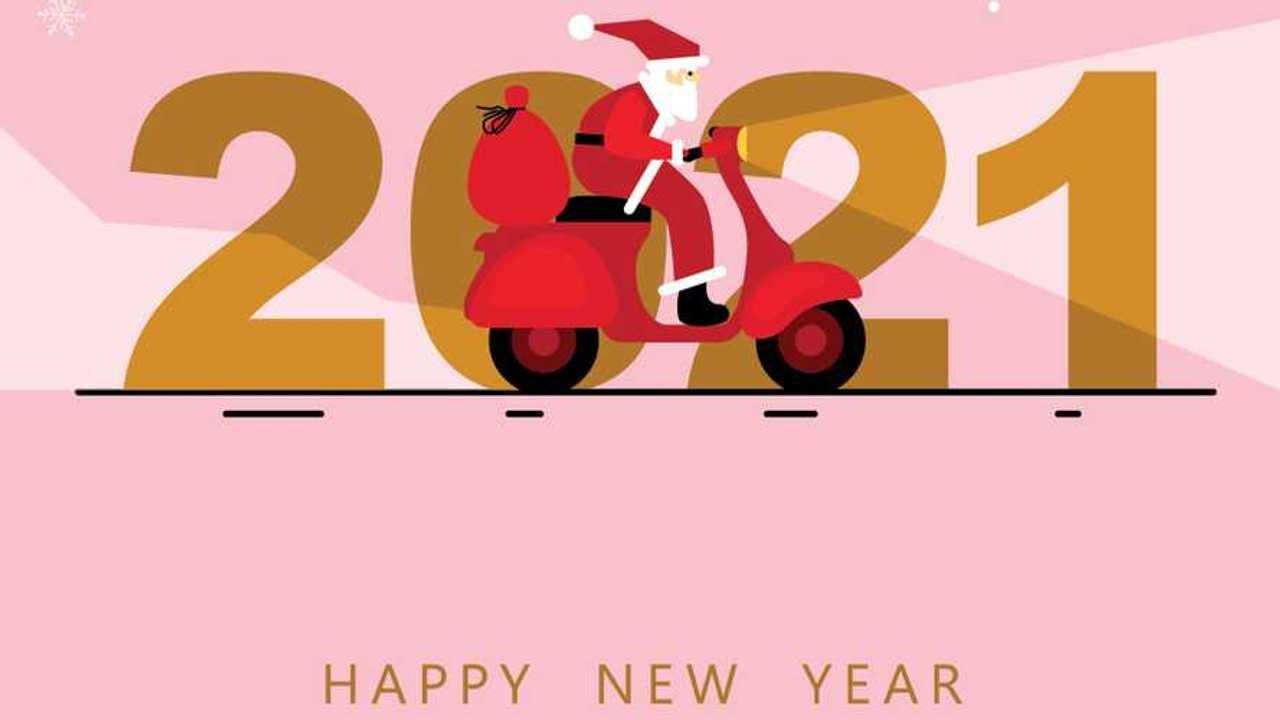 New Year Scoot Santa