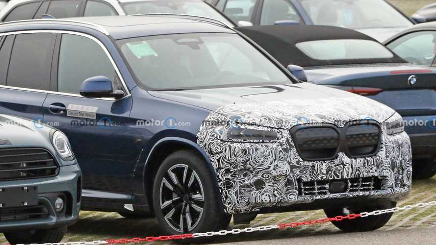 BMW iX3 spied already getting a facelift