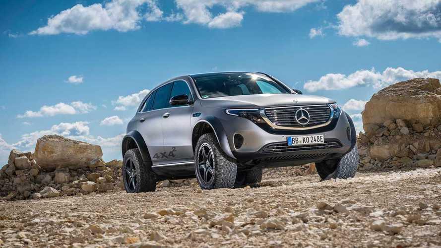 Mercedes продолжает тестировать экстремальный EQC 4x4²