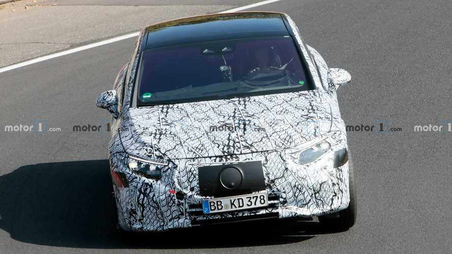 2022 Mercedes EQS new spy photos from the Nurburgring