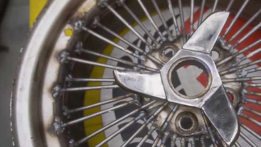 Russia Has Nailed The Idea For A Spoke Wheel By Welding 100 Nails
