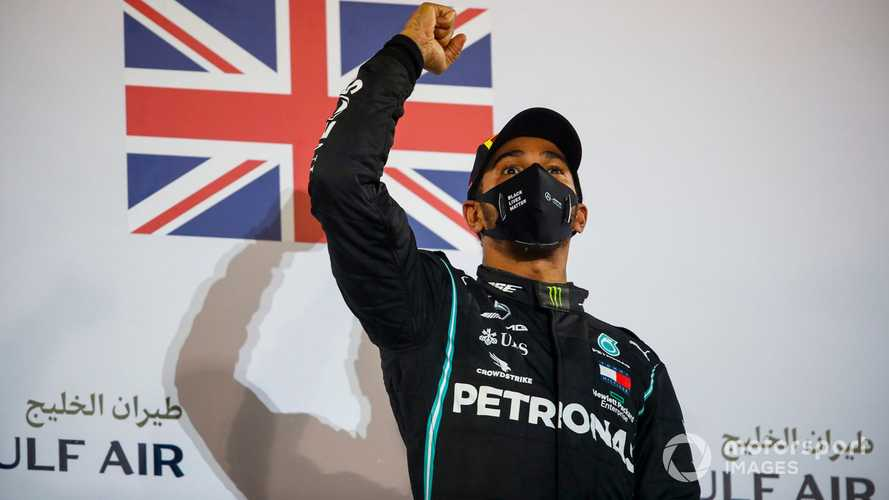 Bahrain GP: Hamilton wins as Grosjean survives horror accident