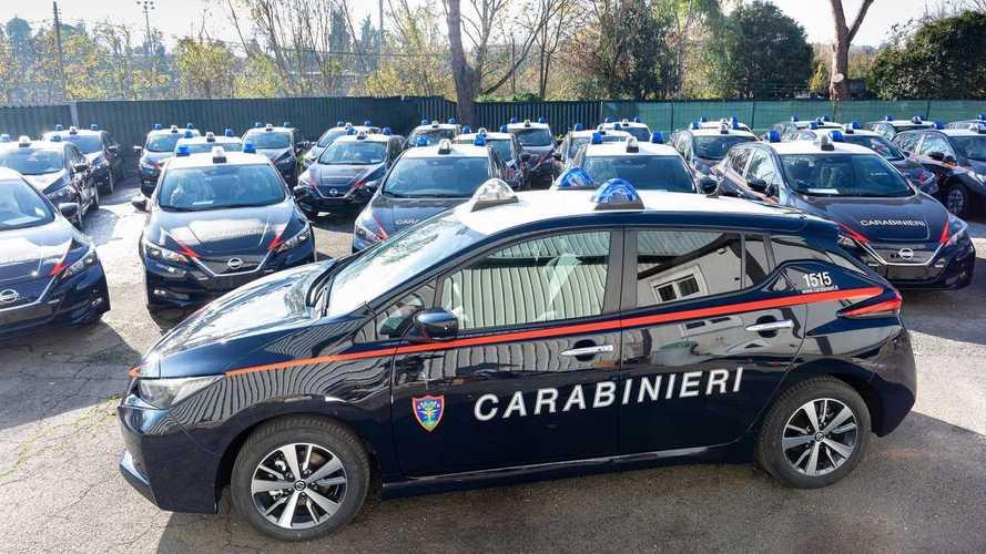 Nissan Leaf de los Carabinieri italianos