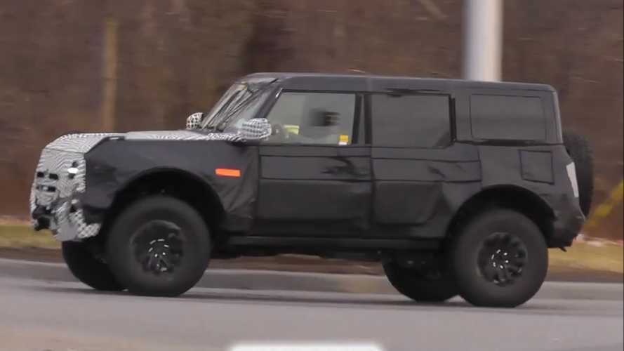 Ford Bronco Warthog Spy Video Captures High-Riding SUV On Public Roads