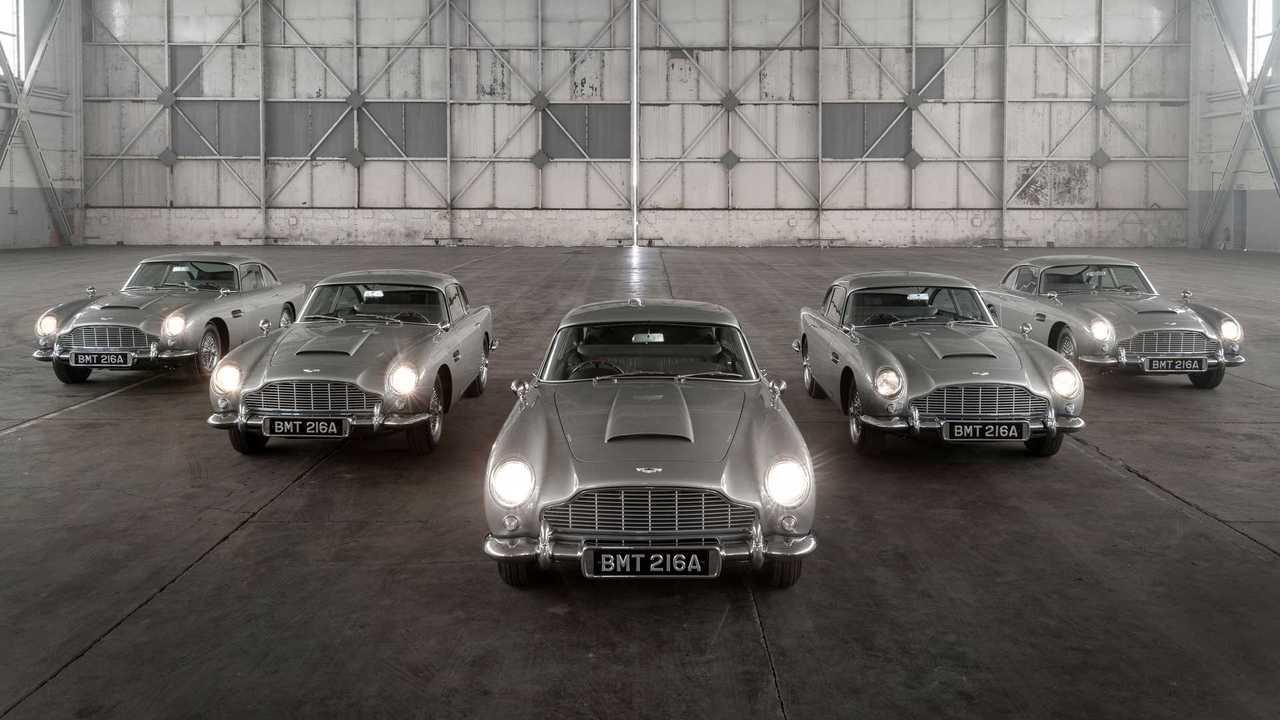 Les cinq premières voitures Aston Martin DB5