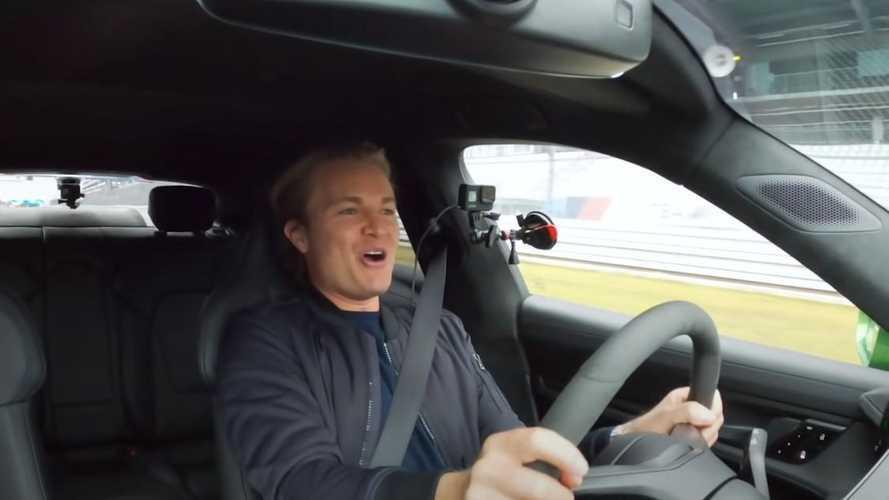 Vídeo: Nico Rosberg lo flipa con el Porsche Taycan Turbo S