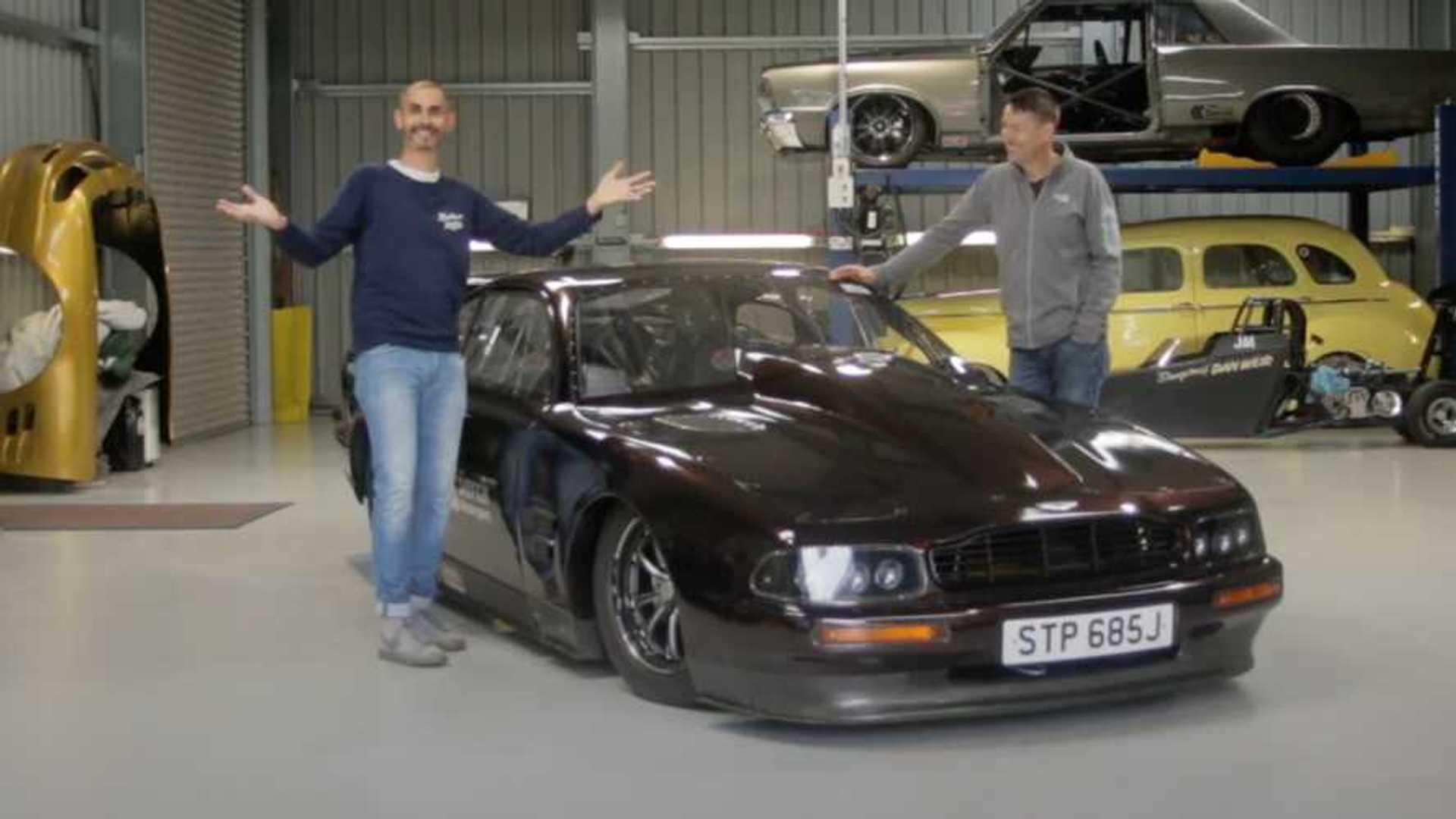 This 2 800 Horsepower Aston Martin Drag Car Is Somehow Street Legal