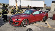 mustang shelby gt500 destroyed by firefighters