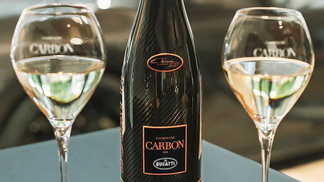 Bugatti Champagne Carbon Bottle