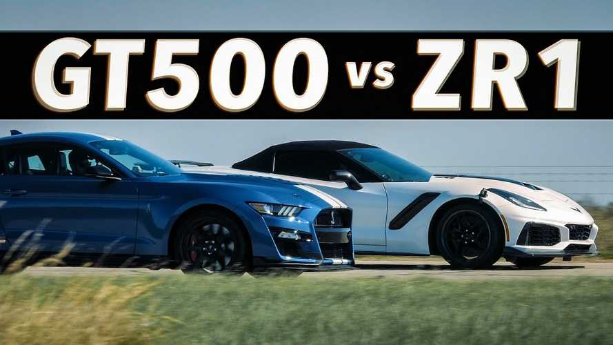 Corvette ZR1 Races Mustang Shelby GT500 Before 1,000-HP Upgrade
