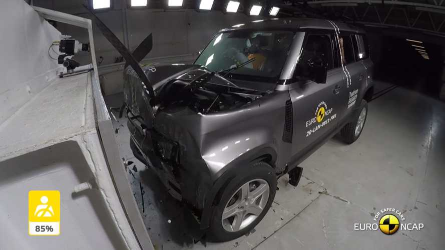 Land Rover Defender Crash Test Video Reveals A Rock Solid Structure