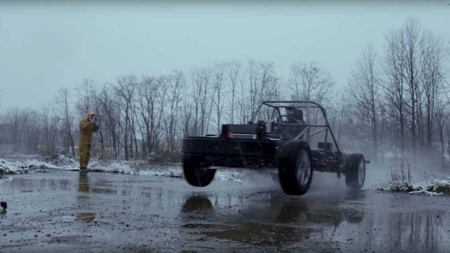 See Lordstown Endurance Alpha Chassis Jumping And Blasting Around