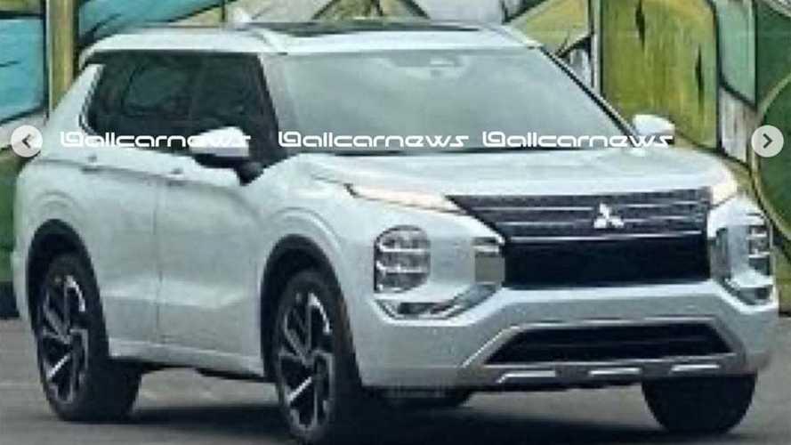 Flagra: Novo Mitsubishi Outlander 2022 adota design de carro-conceito