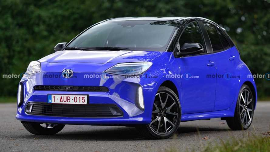 2022 Toyota Aygo Rendered With Perky Looks After First Spy Shots